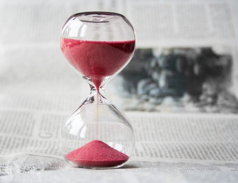 temps qui s'écoule d'un sablier